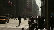 Stock Video Footage of Manhattan Crosswalk