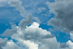 Stock Photo of clouds in blue sky