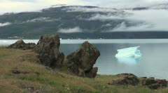 Greenland Eric's Fjord iceberg view Stock Footage