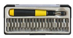 toolbox with screwdriver - stock photo