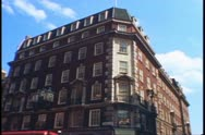 Fortnum and Mason store exterior on Piccadilly in London, England, 1976. Stock Footage