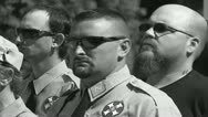 White Knights of the KKK and Neo-Nazis Stock Footage