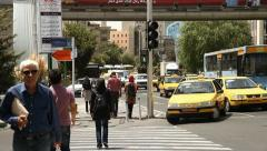 Hafeez Street. Pedestrians crossing. Stock Footage