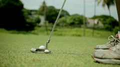 Golf putt Stock Footage