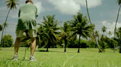 Golf - a long drive Stock Footage