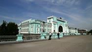 Railway station Novosibirsk Stock Footage