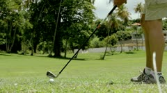 Golf- a long drive Stock Footage