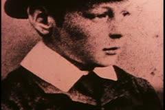 Stock Video Footage of Churchill, still B&W photo as a boy