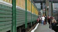 Passengers Railway Stock Footage