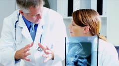 Clinical Colleagues Pleased X-Ray Results using technology  Stock Footage