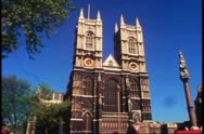 Westminster Abbey, London, England, still, front shot, wide Stock Footage