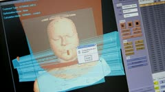 3D computer modeling head Stock Footage