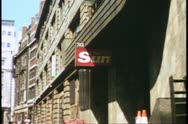 Fleet Street, zoom in to close up of The Sun, sign, London, England Stock Footage