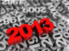 symbol 2013 - stock illustration