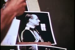 Madame Tussad's Wax Museum, London, 1970's, photo of Prince Phillip Stock Footage