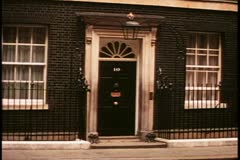 Number Ten Downing Street, London, England, No. 10, wide shot - stock footage