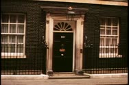 Stock Video Footage of Number Ten Downing Street, London, England, No. 10, wide shot