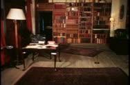 The library at Chartwell,  Churchill's country home in Sussex, England Stock Footage