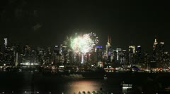 Fireworks Finale in New York City Stock Footage