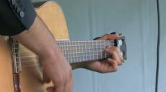 Hand Playing guitar one person A Stock Footage