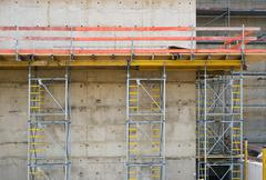 construction with concrete wall - stock photo