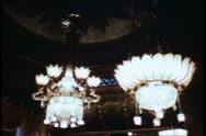 Brighton Pavilion, Royal Palace, Brighton, England, chandeliers, period room Stock Footage