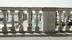 Boat dock in Venice Italy Stock Footage