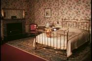 Blenheim Palace, interior, bedroom where Churchill was born, wide shot, still Stock Footage