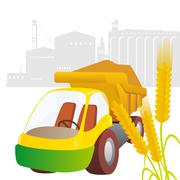 truck crops - stock illustration