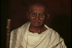 Madame Tussad's Wax Museum, London, 1970's, finished pieces, Gandhi Stock Footage