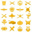 Stock Illustration of badges of arms of the russian army