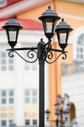 Forged street lamp Stock Photos