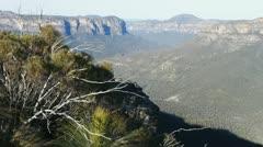 Blue mountains australia Stock Footage