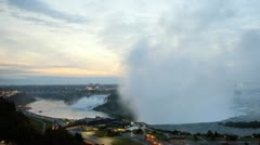 Time Lapse Mist from Horseshoe Falls, Niagara Falls, USA Stock Footage