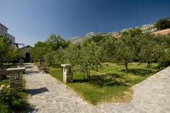Capuschin monastery garden - stock photo
