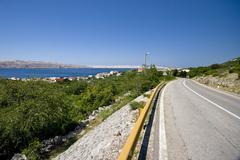 Road to Karlobag Stock Photos