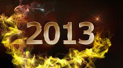 2013, New year 2 - stock photo