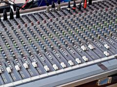sound mixer - stock photo