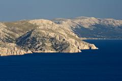 View at rocky island - stock photo