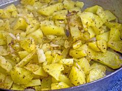 fried potatoes - stock photo