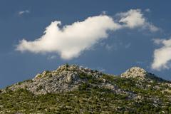 Mountain top of the Paklenica national park - stock photo