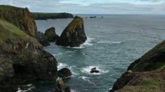 Cornwall coast england uk Stock Footage