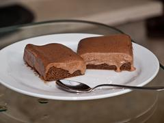 Stock Photo of Chocolate cake on table