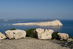 View at the famous ex prison-island Goli otok Stock Photos