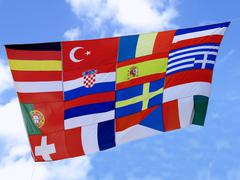 Flagg of  european countries Stock Photos