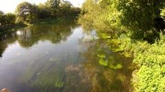 Gentle River in Summer Stock Footage