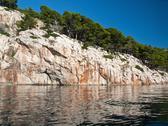 Croatian coast landscape Stock Photos