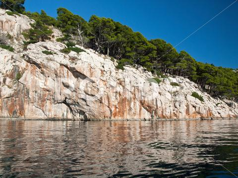 Stock photo of Croatian coast landscape