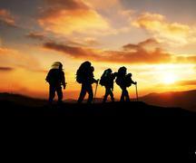 Stock Photo of hiking scene