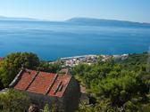 View at small tourist destination in dalmatia Stock Photos